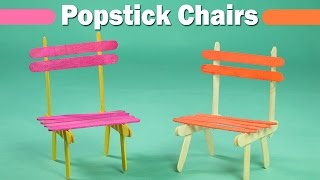 Popsicle Stick Crafts for Kids - Easy Icecream Sticks Chair
