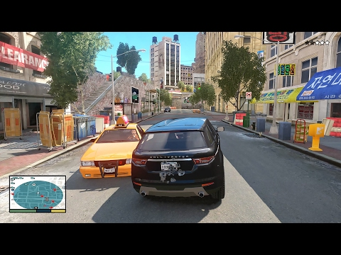 GTA IV with GTA 5 Style Gameplay - iCEnhancer Realistic Graphics (4K)