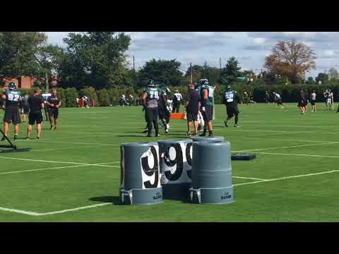 Scenes from Philadelphia Eagles practice
