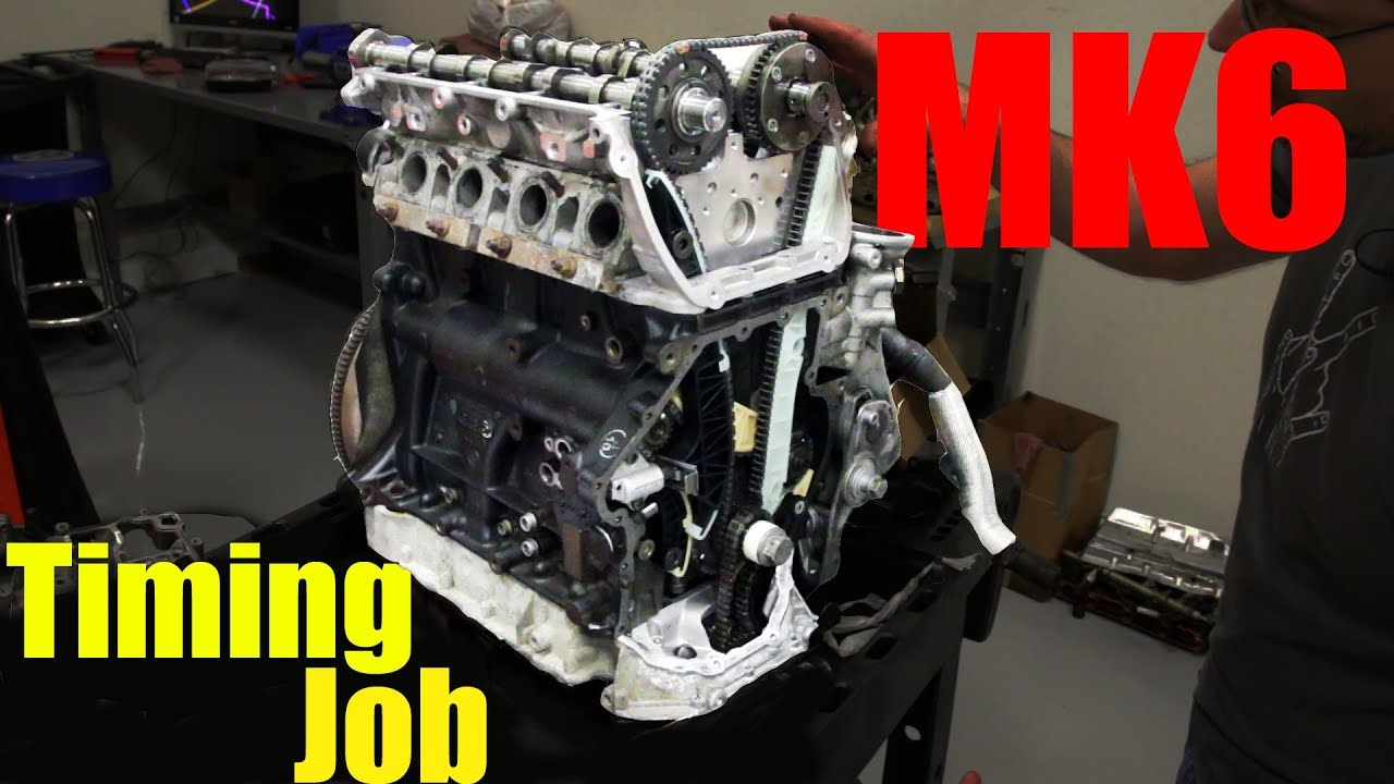 hight resolution of 2 0t tsi vw cylinder head install and timing up the engine