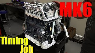 2.0t TSI VW | Cylinder Head Install and Timing Up the Engine