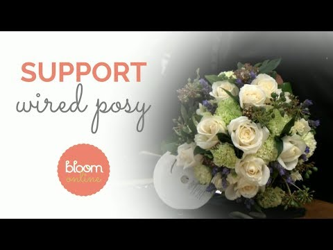 Wired Wedding Posy Bouquet | How to make a Posy Flower Arrangement