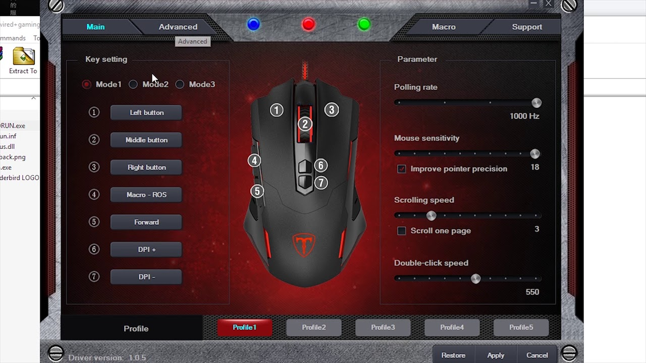 Pictek Gaming Mouse T7 Review | Technical Functions | Software MACRO BUTTON  SET UP
