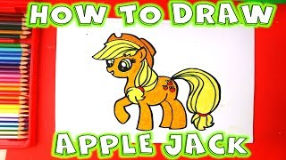 How to Draw Apple Jack My Little Pony step by step