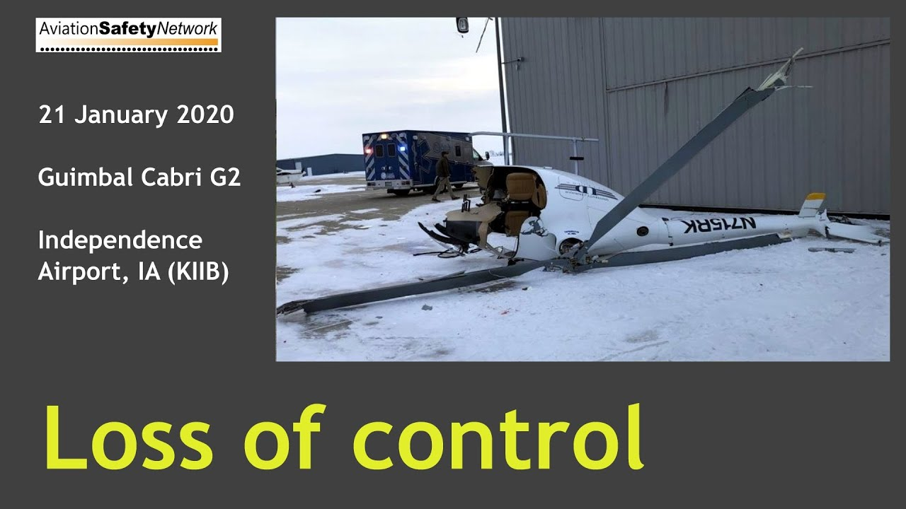 Guimbal Cabri G2 Loss of control accident
