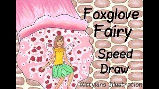 Foxglove Fairy COPIC Speed Draw