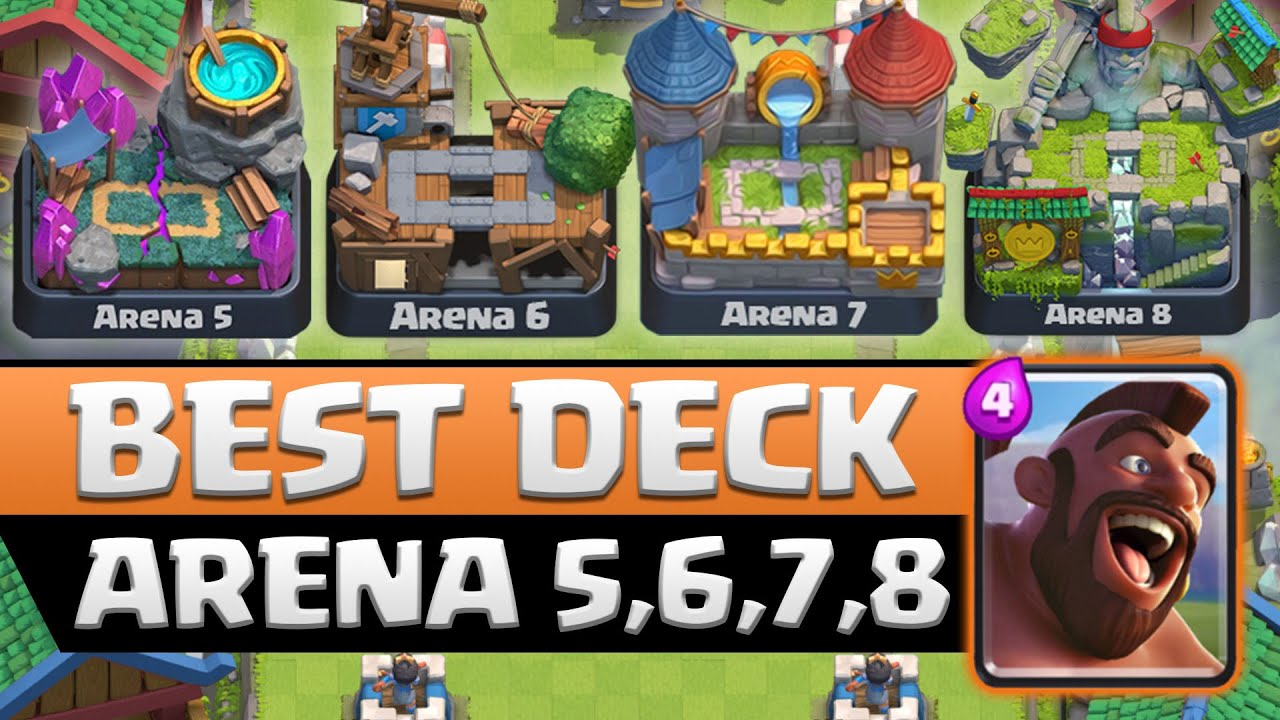 Beste taktik f r arena 5 6 7 8 hogrider deck clash for Clash royal deck arene 7