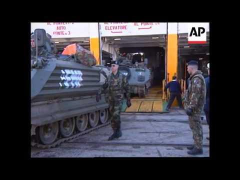 Albania - Italian Garibaldi troops arrive
