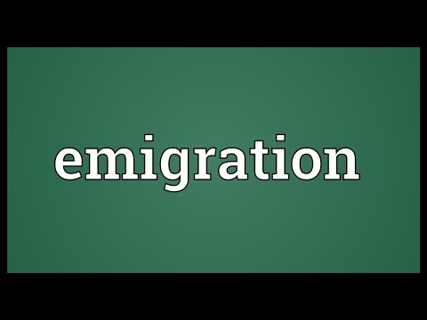 Emigration Meaning