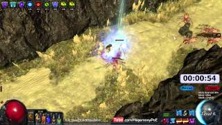 Path of Exile Act 4: Gorge Clear Speed Run with Ball Lightning!  EB/MoM/ZO