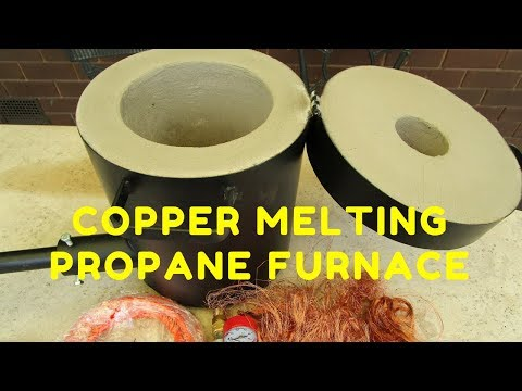 Copper Melting Furnace - Un-boxing the 10kg Propane Furnace