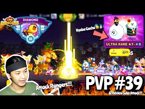 MAIN PVP, NYOBA GACHA & REVIEW SUBS BATTLE!!! Wkwk | LINE RANGERS INDONESIA