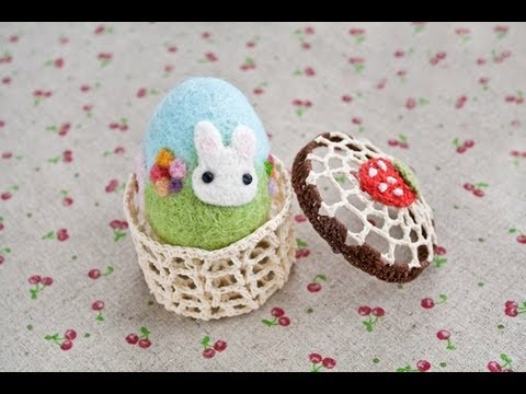 Easter Crafts Needle Felted Easter Egg Tutorial Youtube