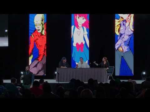 Jason David frank and Amy jo Johnson comicpaloza panel