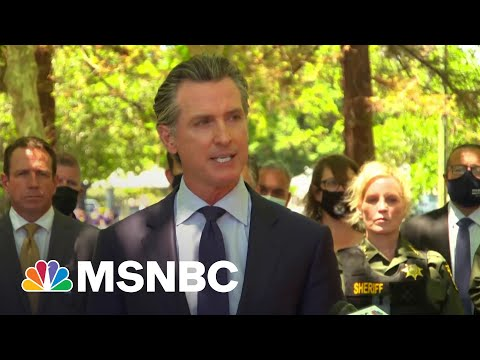 CA Governor Newsom Pleads For Gun Control At San Jose Briefing