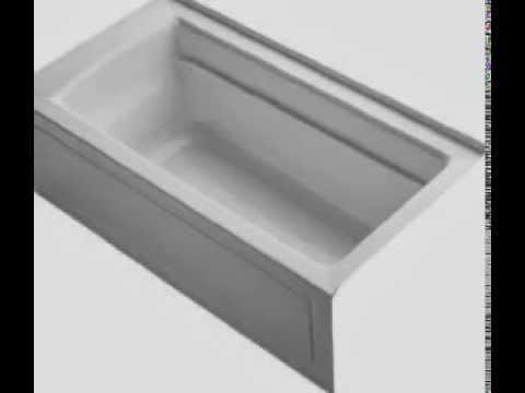 KOHLER K-1123-RA-0 Archer 5-Foot Bath - YouTube