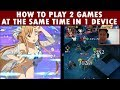 How To Play 2 Games At The Same Time In 1 Device (Android) - SAO Memory Defrag x The Alchemist Code