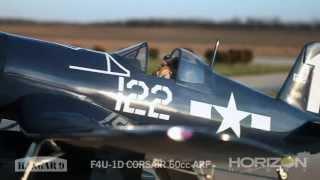 f4u 1d corsair 60cc arf by hangar 9