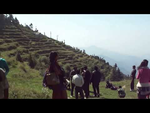 धनौल्टी DHANAULTI - TOP MOST BEAUTIFUL PLACE OF MUSSOORIE : View of the Garhwal Himalayas