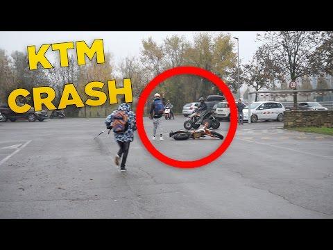 KTM CRASH + TEST KAWASAKI 650cc   RADUNO