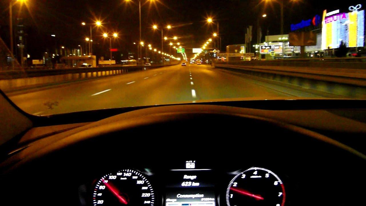 Cars Speedometer Wallpapers 2015 Mercedes C Class W205 Winter Night Ride City Pov