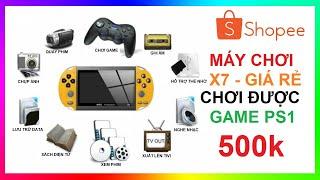 Máy chơi game X7 giá rẻ chơi được PS1, GBA, GB, SEGA, PC, SNES, NES | X7 Handheld