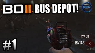 "Black Ops 2 ZOMBIES GAMEPLAY - ""BUS DEPOT"" Survival Live w/ Ali-A - Part 1 - Call of Duty BO2"