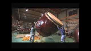 featuring Asano Taiko... How they build their Taikos. It's very fas...