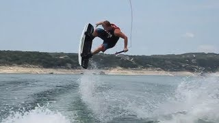 Heelside Frontside Off Axis 540 (goofy foot ) - Wakeboarding