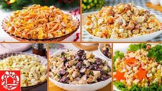 5 Легких САЛАТОВ на Новый Год 2020 Вкусно Быстро и Просто Рецепты на Новый Год