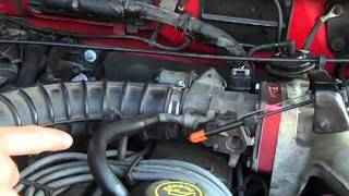 Check A/C vacuum leaks on Ford Ranger (A/C only blows through defrost)