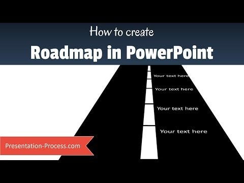 how to create simple powerpoint roadmap youtube
