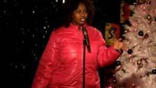 Happy Birthday at  The J Spot Comedy Club with my 7$ Wal-mart Jacket  .... GloZell