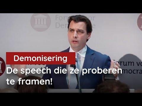 De speech die ze proberen te framen