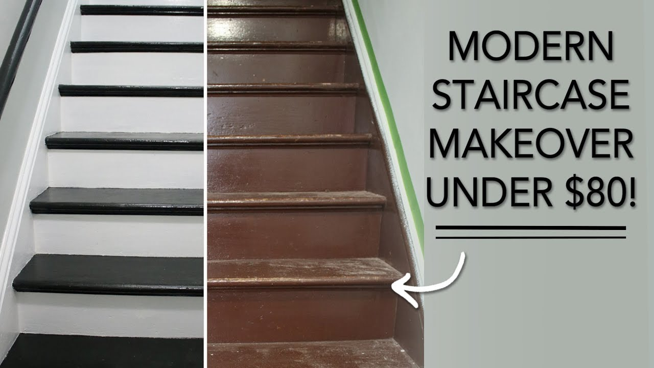Entryway Remodel Easy Diy Stairs Makeover Under 80
