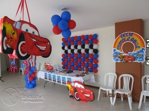 Decoracion fiesta tematica cars youtube - Decoracion de cars para fiestas infantiles ...
