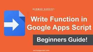 How to Write Function in Google Apps Script