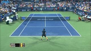 Roger Federer Blasts Forehand Hot Shot Cincinnati 2014