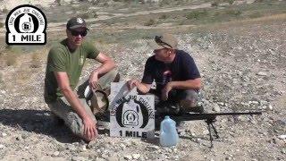 REMINGTON 700 Long Range disparando a 1 milla (1.609 metros)