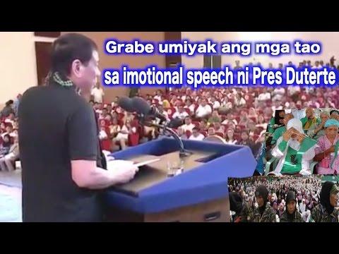 Grabe umiyak ang mga tao sa COTABATO sa imotional speech ni Pres Duterte