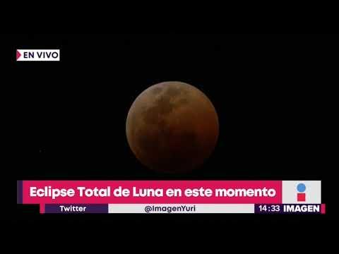 Ese total de Luna, ya se ve de color naranja  Noticias con Yuriria Sierra