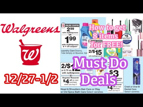 WALGREENS MUST DO DEALS 12/27-1/2    8 ITEMS FOR FREE + IBOTTA FREEBIES TOO!