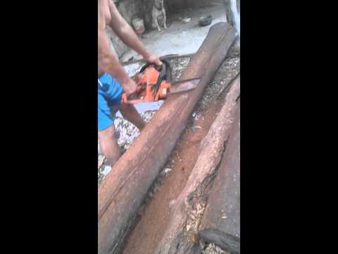 Metodo de corte de madera por un profesional