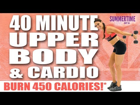 40 Minute Upper Body And Cardio Workout 🔥Burn 450 Calories!* 🔥Sydney Cummings
