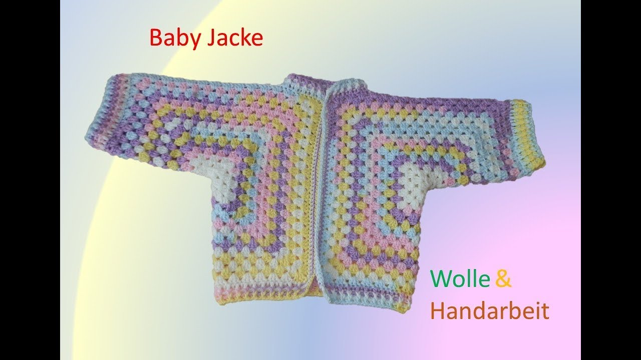 Baby Jacke Häkeln Youtube