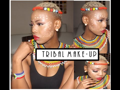 Tutorial: African Tribal Makeup [South African Youtuber]
