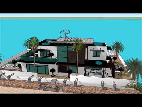 MIAMI YACHT SHOW 2018  LUXURY YACHTS  SUPER YACHTS HOUSEBOATS  MEGA YACHTS FLORIDA FL HOUSEBOAT 007