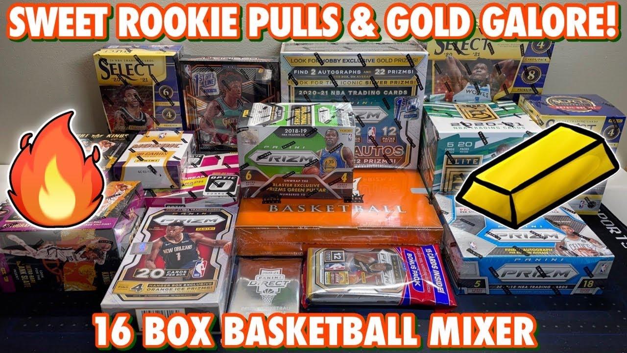 SWEET ROOKIE PULLS & GOLD GALORE! | 16 Box Basketball Mixer - 20/21 Prizm FOTL & 19/20 Obsidian FOTL