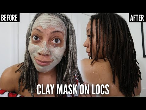 DEEP CLEANSING LOCS ⇢ The AZTEC BENTONITE CLAY Mask for BUILD UP & DETOX