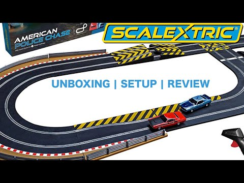 Scalextric American Police Chase 1:32 Slot Car Race Track Set | UNBOXING | SETUP | REVIEW